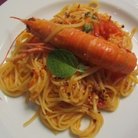 Linguine with Langoustines and Mint