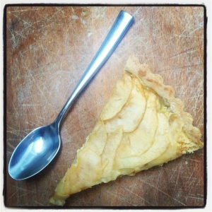 Apple Pastry Cream Hazelnut Tart