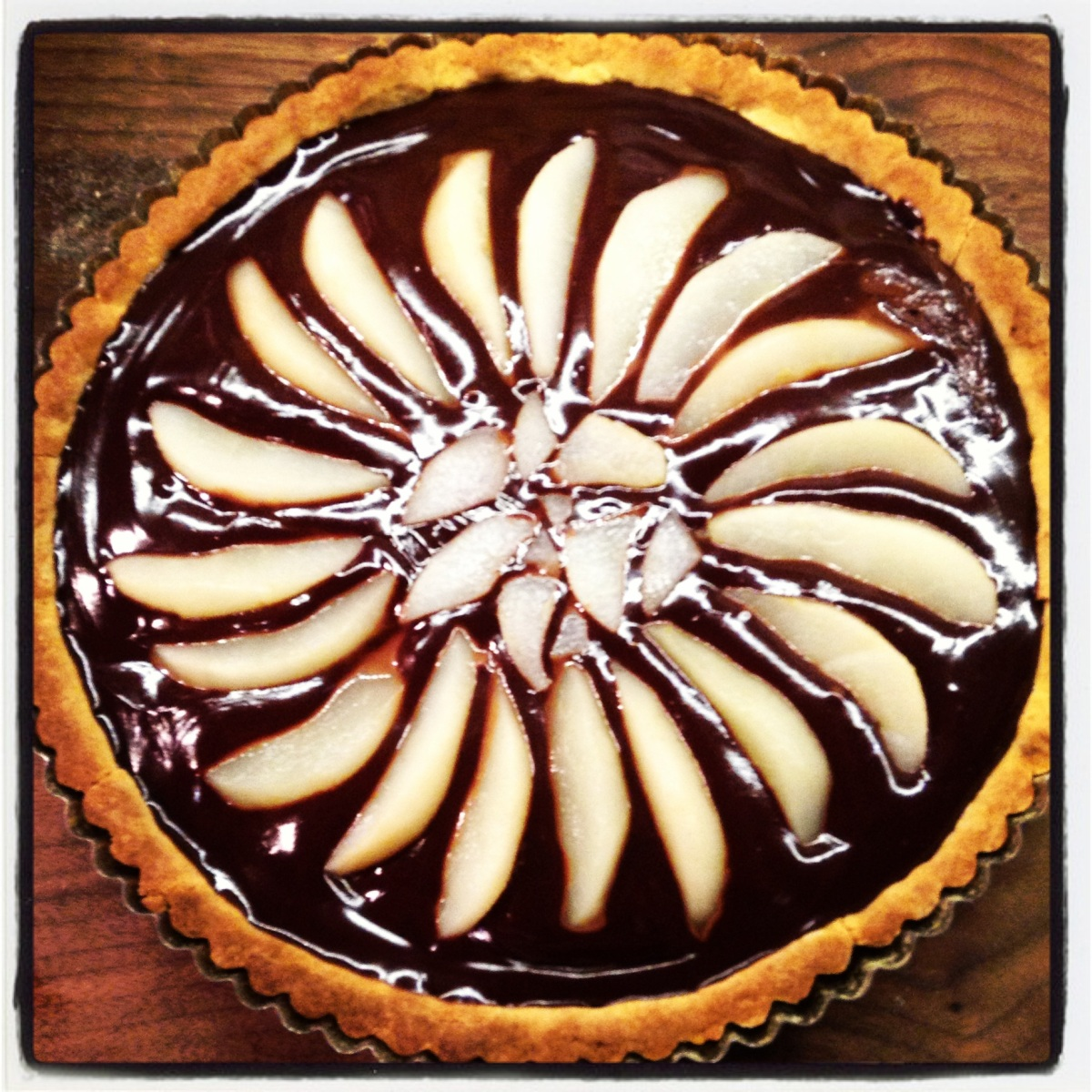 Chocolate and Pears Tart