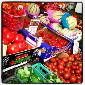 Bright Vegetables at Local Farmer Market