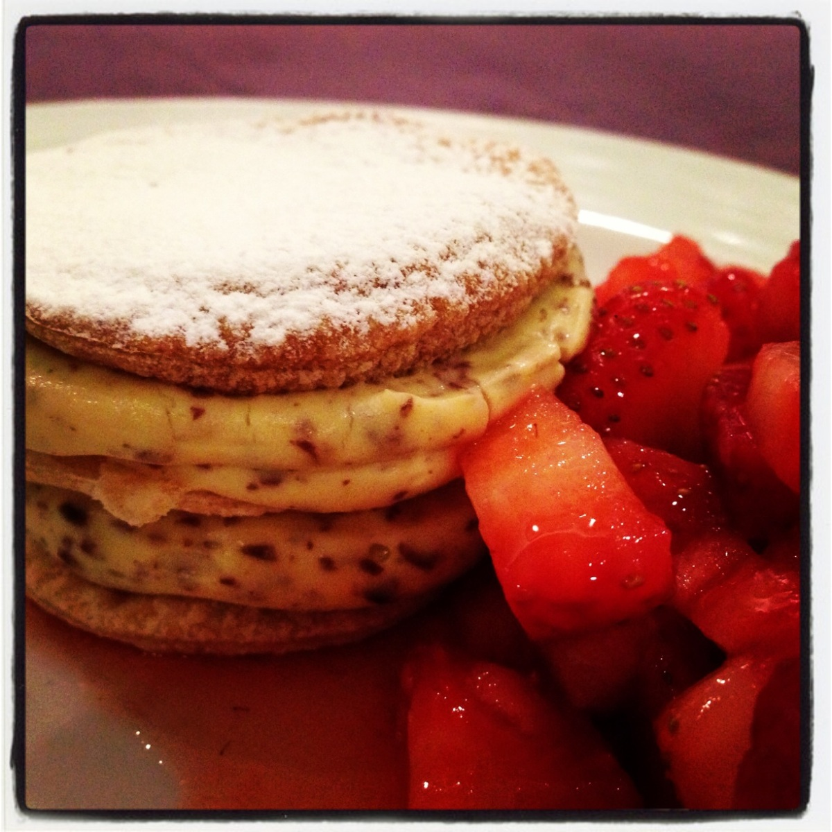 My beloved Millefeuille with soft pastry cream and chocolate