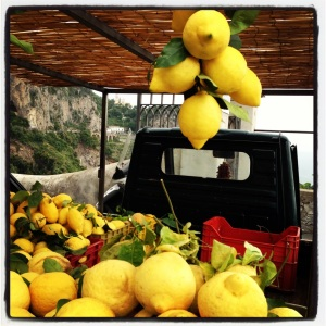 Selling lemons on the Amafi Coast