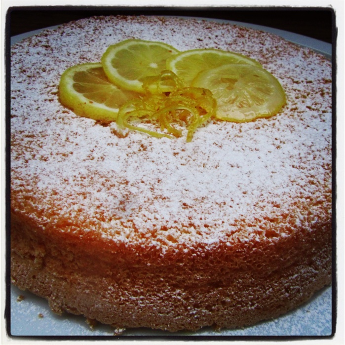 White Caprese Cake with Limoncello